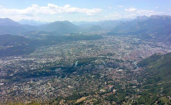 Grenoble depuis le Fort du Saint-Eynard